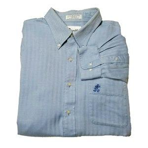 WALT DISNEY WORLD Mens Blue Long Sleeve Shirt